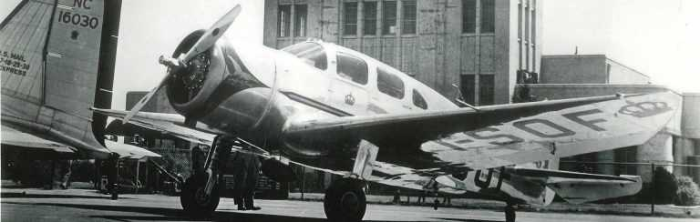 spartan college vintage photo of airplane