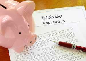 Scholarship application with Piggy bank