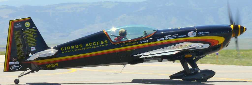 Patty Wagstaff in a plane