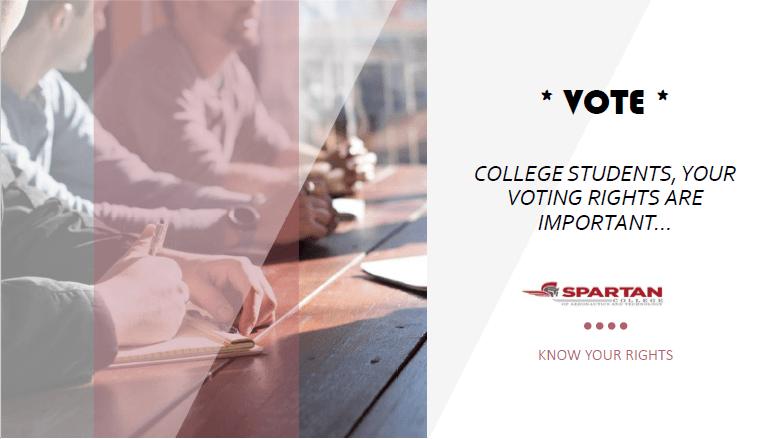 voter registration - Spartan College