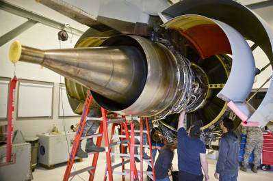 Turbine Engine Opened Up
