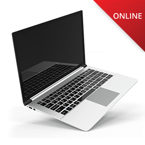 Laptop Computer with Online in Corner