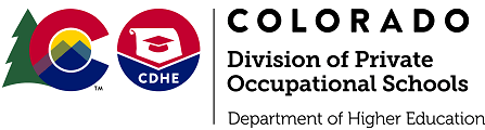 Colorado Division of Private Occupational Schools logo