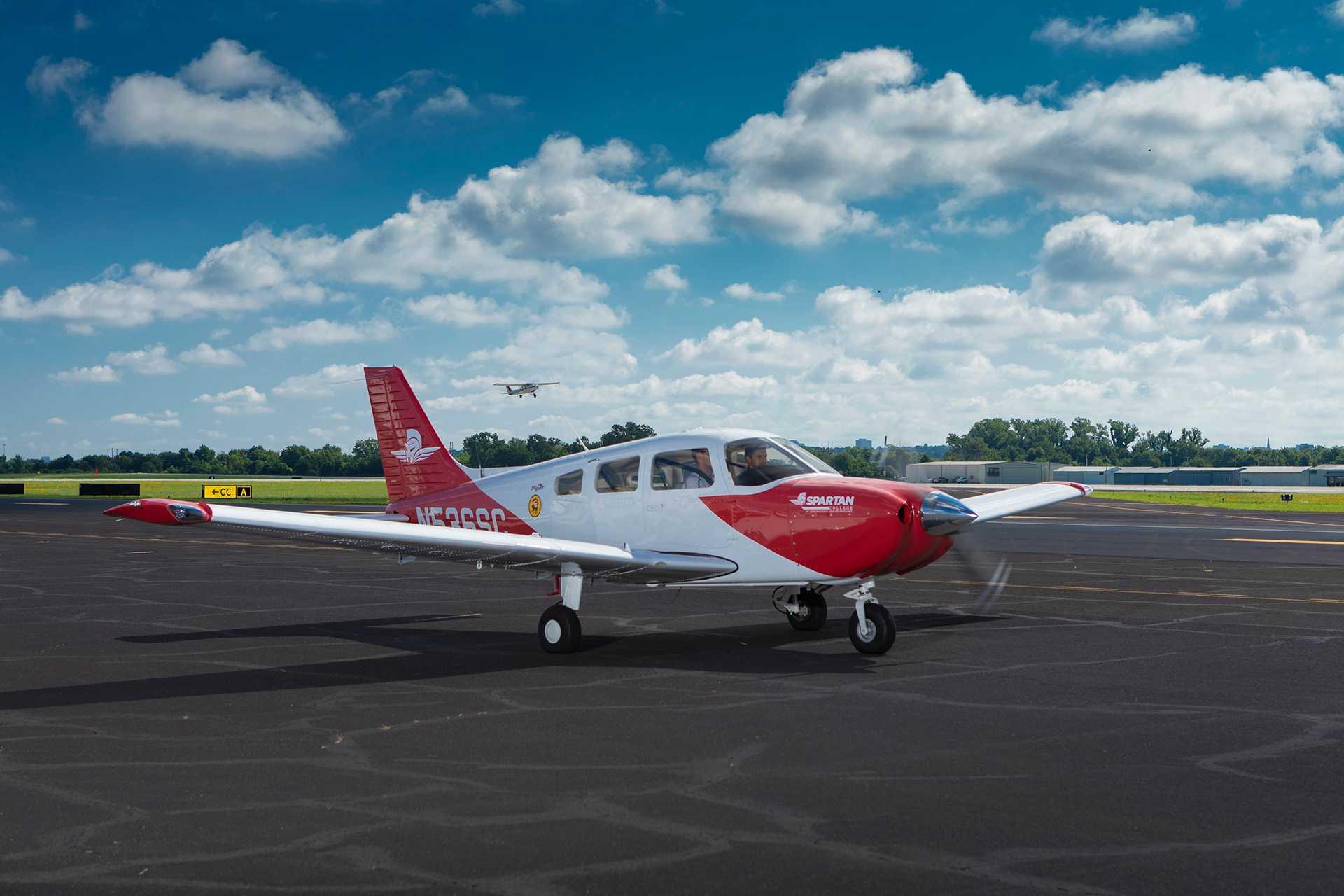 Spartan New Piper Archer Plane on Runway