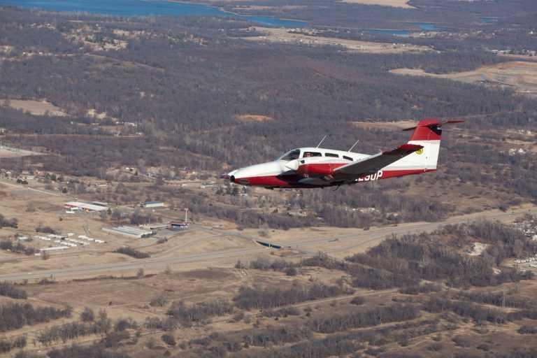 Spartan College Plane in flight