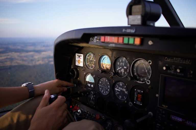 aircraft cockpit view