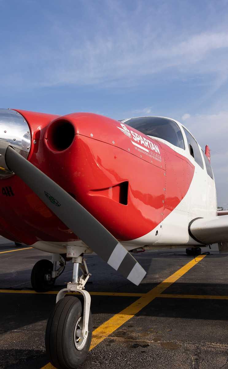 Spartan College Up-close Vertical Plane