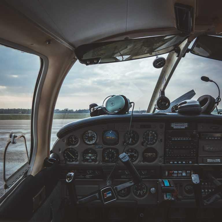 cockpit headsets plane