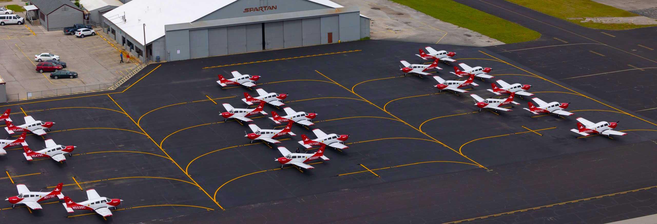 overhead piper planes