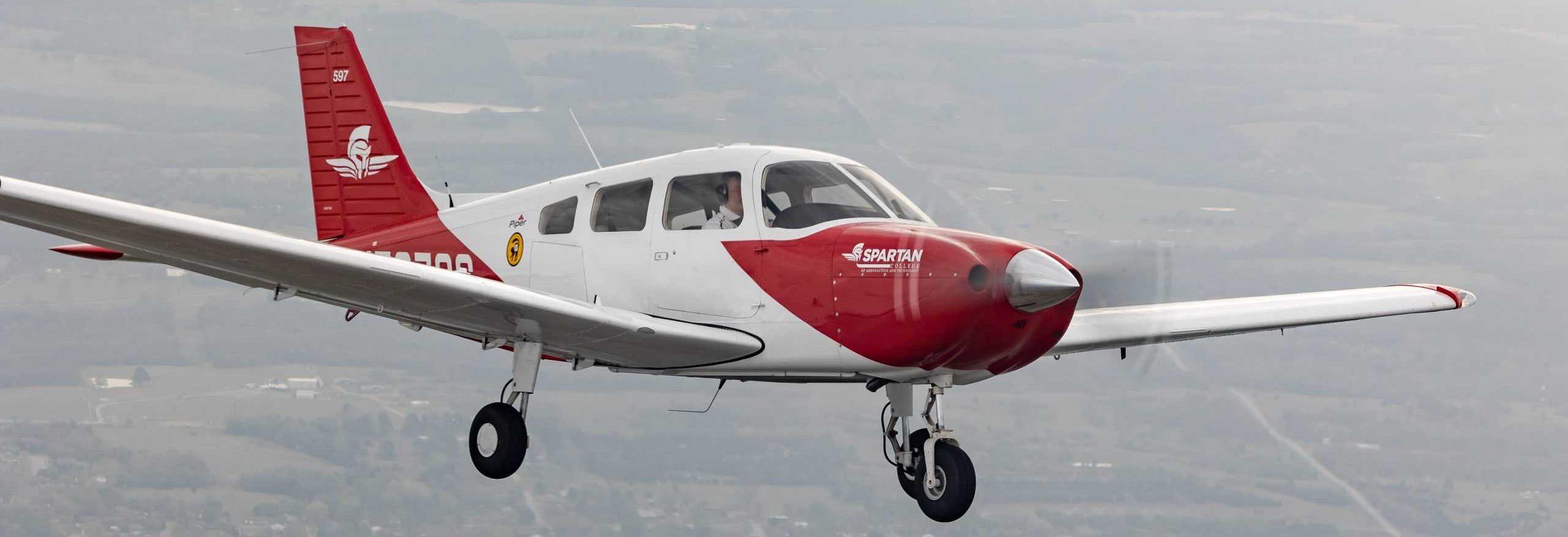 plane in flight spartan