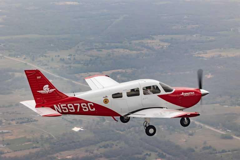 spartan plane in flight